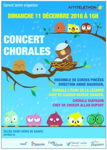 Concert Chorales Dimanche 11 Décembre 2016