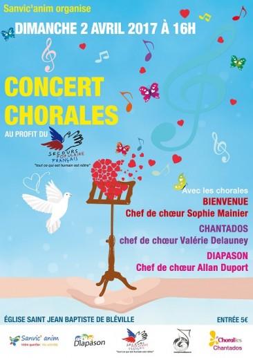 Concert Chorale à Bléville le 02 avril 2017