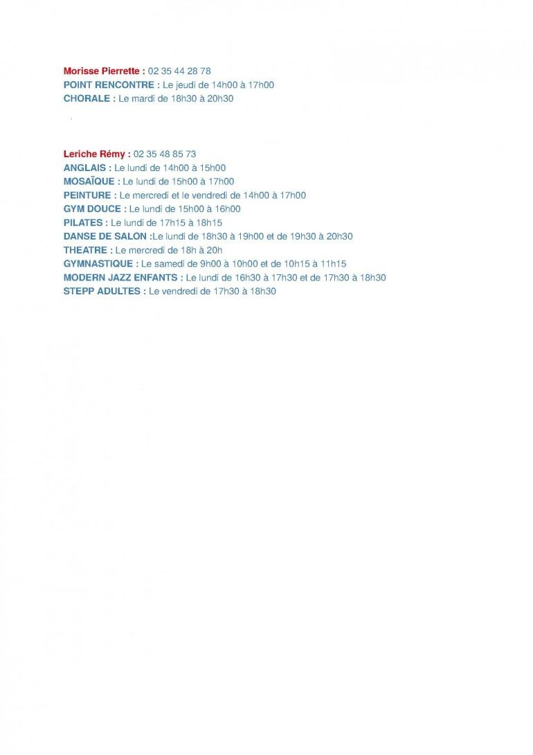 HORAIRES ACTIVITES SANVIC'ANIM 2017-2018