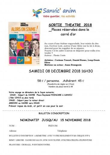 SORTIE THEATRE 08 Décembre 2018