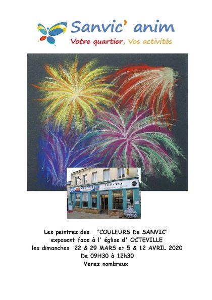 EXPOSITION DES PEINTURES «COULEURS DE SANVIC» 22 ET 29/03, 5 ET 12/04